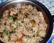 和風肉団子と大根とレンコンの煮物